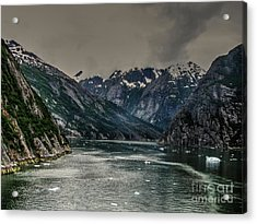The Fjord Acrylic Print by Steven Parker