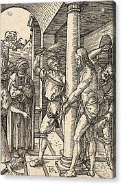 The Flagellation Acrylic Print by Albrecht Durer