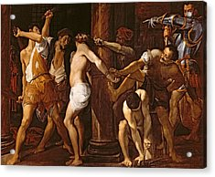 The Flagellation Of Christ, 1586-87 Oil On Canvas Acrylic Print