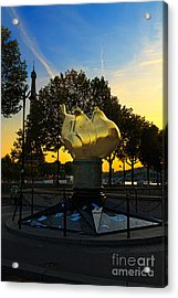 The Flame Of Liberty In Paris Acrylic Print