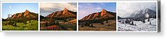 The Flatirons - Four Seasons Panorama Acrylic Print