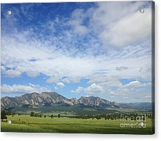 The Flatirons In Spring Acrylic Print