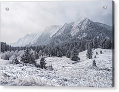 The Flatirons - Winter Acrylic Print