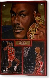 The Flight Instructor Feat Michael Jordan Acrylic Print by D Rogale