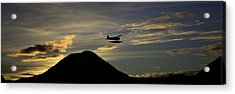 Acrylic Print featuring the pyrography The Flight To Penn Point. by Timothy Latta
