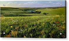 The Kansas Flint Hills From Rosalia Ranch Acrylic Print