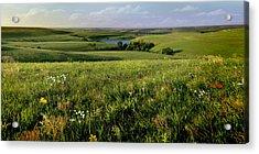 The Kansas Flint Hills From Rosalia Ranch Acrylic Print by Rod Seel
