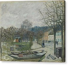 The Flood At Port-marly, 1876 Acrylic Print by Alfred Sisley