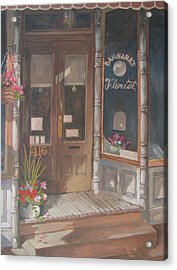 Acrylic Print featuring the painting The Florist by Tony Caviston