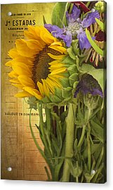 The Flower Market Acrylic Print by Priscilla Burgers