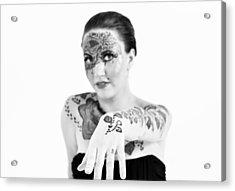 The Flower Tattoo  Acrylic Print by Alex Pochinok