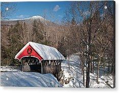 The Flume Bridge In Winter Acrylic Print
