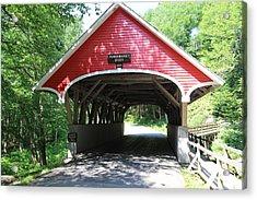 The Flume Gorge Covered Bridge Acrylic Print
