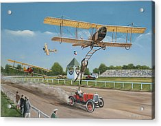 The Flying Circus Acrylic Print by Kenneth Young