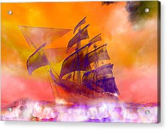 The Flying Dutchman Ghost Ship Acrylic Print by Carol and Mike Werner
