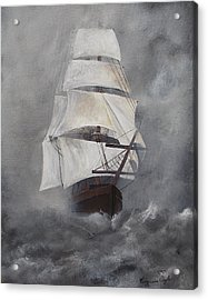 Acrylic Print featuring the painting The Flying Dutchman by Virginia Coyle