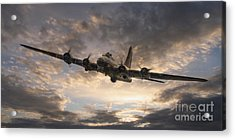 The Flying Fortress Acrylic Print by J Biggadike