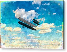The Flying Machine Acrylic Print by Bill Cannon