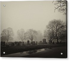 The Fog Acrylic Print by Jim Poulos