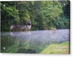 Acrylic Print featuring the photograph The Fog Of Late Summer by Julie Clements