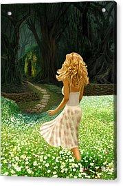 The Forbidden Forest Acrylic Print by Bob Nolin