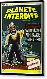 The Forbidden Planet Vintage Movie Poster Acrylic Print by Bob Christopher