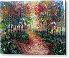 The Forest At Falltime Acrylic Print