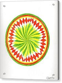 The Forest Mandala Acrylic Print by Silvia Justo Fernandez