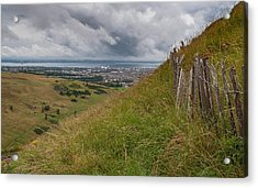 Acrylic Print featuring the photograph The Forgotten Fence by Sergey Simanovsky