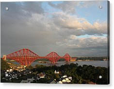 Acrylic Print featuring the photograph The Forth Bridge - Scotland by David Grant