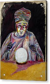 The Fortune Teller Acrylic Print by Tom Conway
