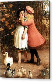 The Foster Sisters Acrylic Print by Philip Richard Morris