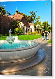 Botanical Building And Fountain At Balboa Park Acrylic Print by Claudia Ellis