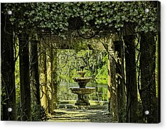 The Fountain Acrylic Print by Denis Lemay