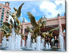 The Fountains At Atlantis Acrylic Print