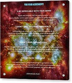 The Four Agreements-wisdom Of The Toltecs Acrylic Print by Eti Reid