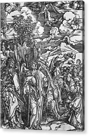 The Four Angels Holding The Winds Acrylic Print by Albrecht Durer or Duerer