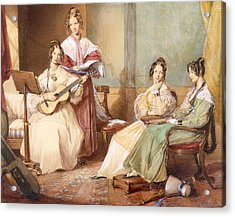The Four Daughters Of Archbishop Acrylic Print by George Richmond