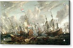 The Four Days Battle, June 1666 Acrylic Print by Abraham Storck