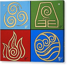 The Four Elements In Cy Lantyca Acrylic Print