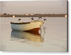 Acrylic Print featuring the photograph The Four Flying Boatmen by Trevor Chriss