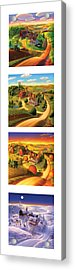 The Four Seasons Vertical Format Acrylic Print by Robin Moline