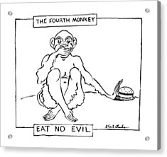 The Fourth Monkey Acrylic Print by Stuart Leeds