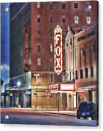 The Fox After The Show Acrylic Print by Sylvia Thornton