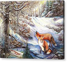 The Foxes Of Panel Mine Road Acrylic Print