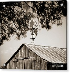 Acrylic Print featuring the photograph The Framed Windmill by Amber Kresge
