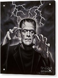 The Frankenstein Monster Acrylic Print by Dick Bobnick