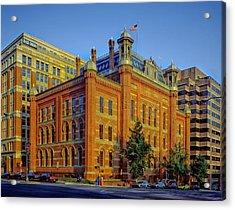 The Franklin School - Washington Dc Acrylic Print by Mountain Dreams