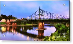 The Free Bridge Acrylic Print by Mark Miller