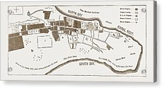 The French In Madagascar, Plan Of Tamatave Acrylic Print
